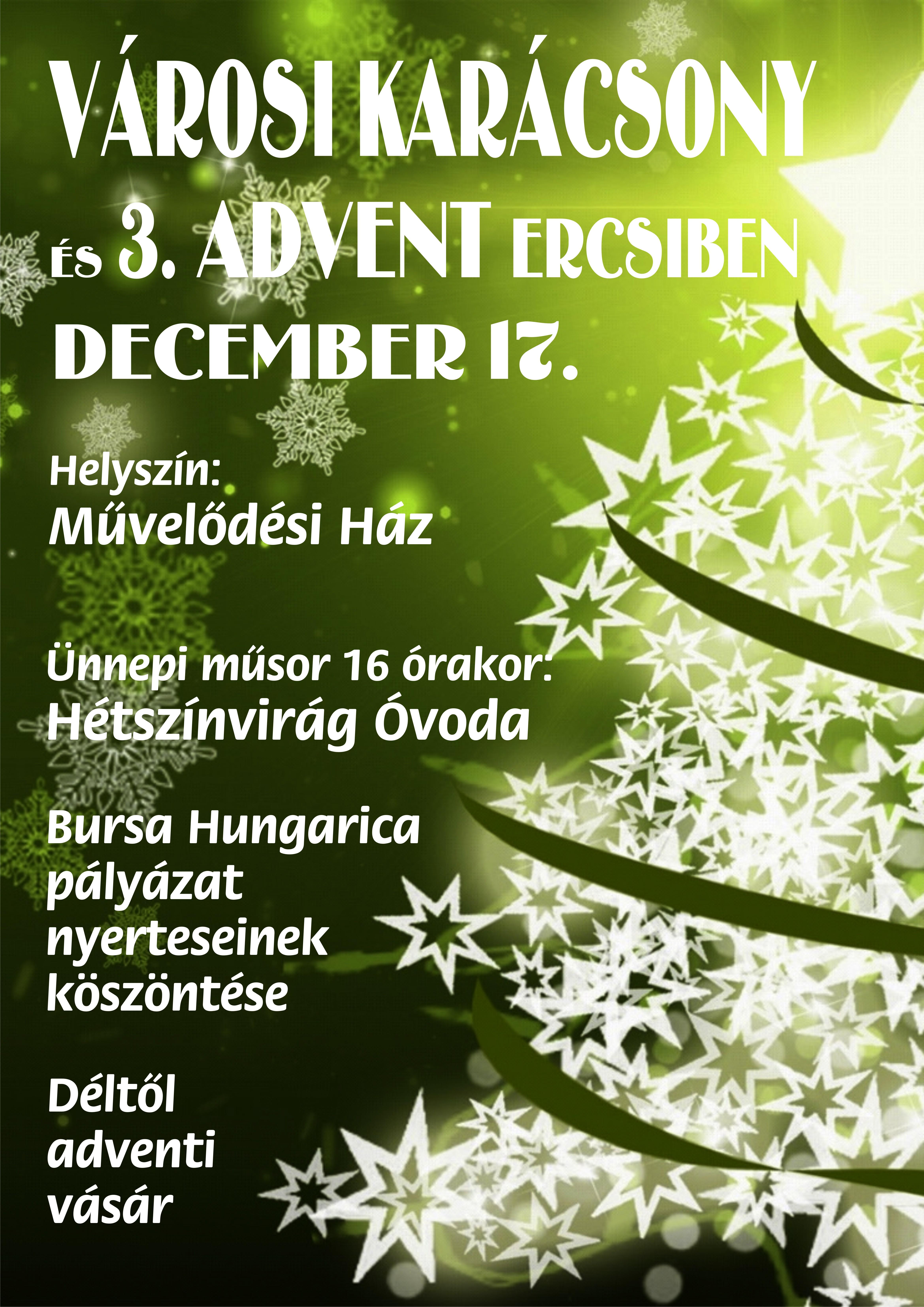 Városi Karácsony és 3. Advent Ercsiben